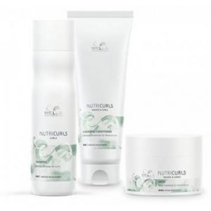 Wella Pack Nutricurls Cheveux Bouclés - Shampooing + Conditionneur Lavant + Masque