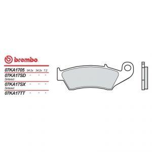 Brembo 07KA17SD - Plaquettes de frein moto sinter