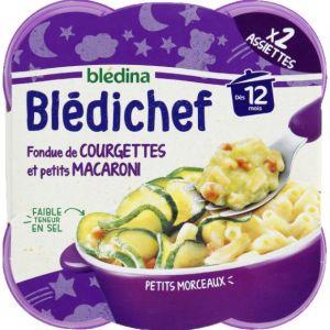 Blédina Bledichef 2x230g fondue de courgettes et petits macaroni dès 12 mois