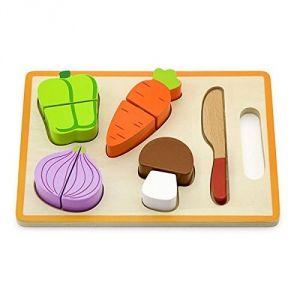 Viga Toys 1201 - Plateau de légumes à découper et encastrer