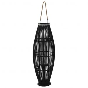 VidaXL Bougeoir suspendu Bambou Noir 95 cm