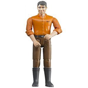 Bruder Toys 60007 - Figurine homme châtain avec jean marron