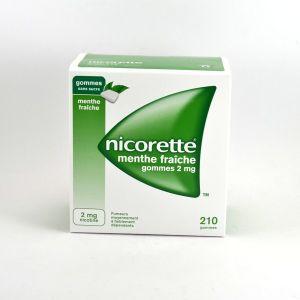 Johnson & Johnson Nicorette menthe fraiche s/s 2 mg - 210 gommes à mâcher