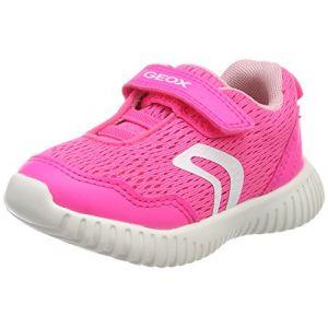 Geox B Waviness B, Sneakers Basses Bébé Fille, Rose (Fluo Fuchsia), 25 EU