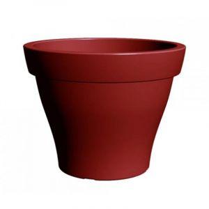 Poetic Pot de fleur rond Roméo XXL 120 cm Rouge