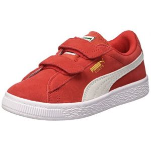 Puma Suede 2 Straps PS, Sneakers Basses Mixte Enfant, Rouge (High Risk Red White 03), 28 EU