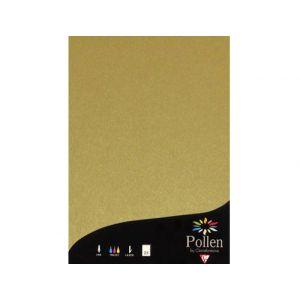 Pollen 4200C - Paquet filmé de 50 feuilles papier 210x297, 120 g/m², coloris or