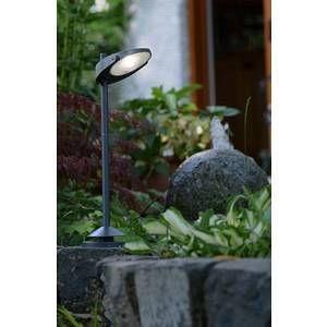 Lutec Lampadaire solaire STACK LED Gris, 3 lumières