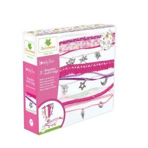 Sycomore Kit de loisir créatif enfant - Bracelets multi-rangs - 3 projets - DIY - Lovely Box Collector - Dès 7 ans