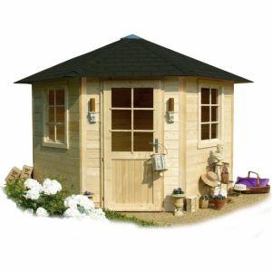 Solid S820 - Abri de jardin de coin Nancy en bois 28 mm 5,45 m2