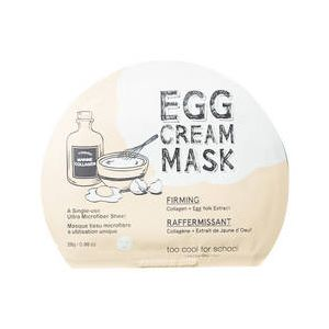 too cool for school Egg Cream Mask Firming - Masque tissu microfibre