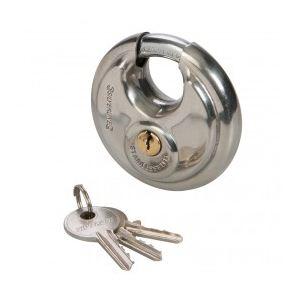 Silverline 292707 - Cadenas circulaire à anses protégées 70 mm