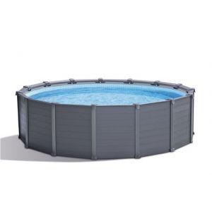 Intex Kit piscine Piscine tubulaire graphite Ronde - 4,78 m x 1,24 m