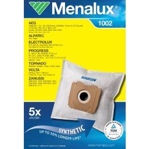 Menalux 1002 - 5 sacs + 1 filtre pour aspirateurs