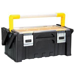 Perel Boîte à outils en plastique avec bacs amovibles