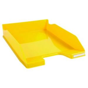 Exacompta 113289D - Corbeille à courrier COMBO MIDI, jaune brillant