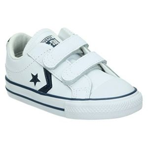 Converse Lifestyle Star Player 2v Ox, Sneakers Basses Mixte Enfant, Multicolore (White/Navy 111), 26 EU