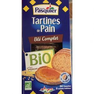 Pasquier Tartines de pain blé complet bio