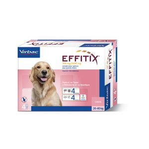 Virbac Effitix Spot On grand chien 20-40 kg 4 pipettes
