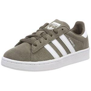Adidas Campus C, Chaussures de Fitness Mixte Enfant, Vert (Rama/Ftwbla/Ftwbla 000), 34 EU