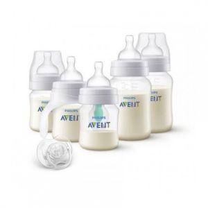 Philips Avent - Kit nouveau-né biberons + sucette anti-colique