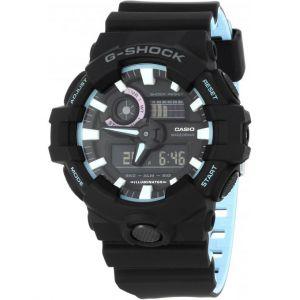 Casio Montre G-Shock 90' Rave Colors GA-700PC-1AER - Montre Multifonctions Résine Noir Mixte