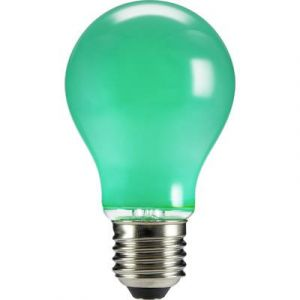 Sygonix Ampoule LED E27 STA6007greencolor forme standard 4 W vert (Ø x L) 60 mm x 105 mm EEC: n/a à filament 1 pc(s)