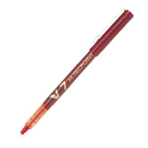 Pilot Stylo roller Hi-Tecpoint V7 rouge pointe moyenne (0,4 mm)