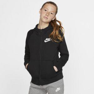 Nike Sweat à capuche à zip intégral Sportswear Fille - Noir - Taille XS - Female