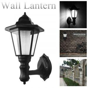 Kingso 1 4X Le Support Mural Solaire Extérieur Alimenté Led All e La Lanterne De Lampe étanc De Jardin