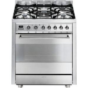Smeg C7GPX8 - Cuisinière Elise gaz 5 brûleurs avec four électrique