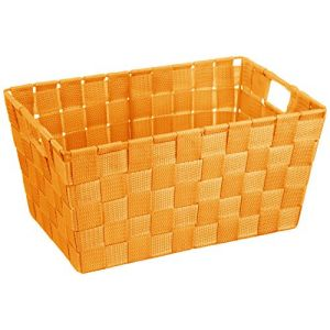 Wenko 20677100 Adria Corbeille Salle de Bains Orange