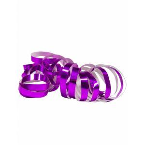 2 Rouleaux de serpentins violet métallique 4 m Taille Unique
