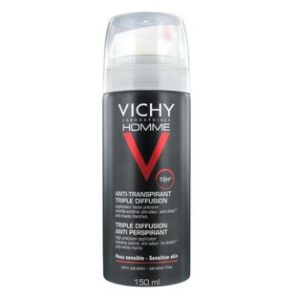 Vichy Homme Déodorant anti-transpirant 72h Triple diffusion