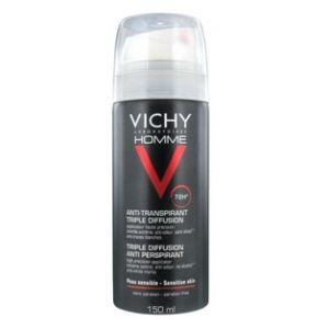 Image de Vichy Homme Déodorant anti-transpirant 72h Triple diffusion
