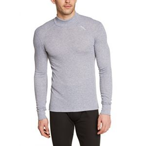 Odlo Originals Warm T-Shirt chaud col droit manches longues homme Grey Melange Taille Fabricant : S
