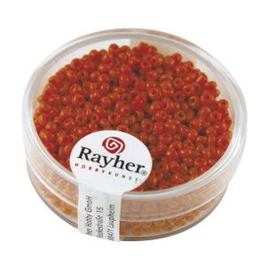Rayher Rocailles opaques Blanches 2mm