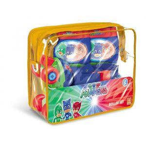 Mondo PYJAMASQUES Rollers Réglables et protections (taille 22 à 29) (Patins + Genouillères + Coudières) - Disney