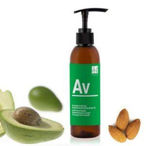 Dr Botanicals Huile Hydratante pour le corps Superfood - Avocat et amande - 200 ml