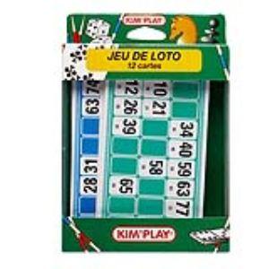 Kim'play Jeu de loto de voyage 12 cartes