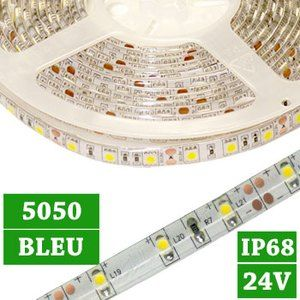 Ruban 300 LED flexible bleu 12V 4.8W