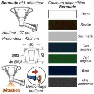 Roger Pradier Applique extérieure avec détecteur bermude BU 1095
