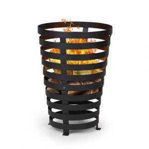 Blumfeldt Verus Braséro de jardin support stable en acier - noir