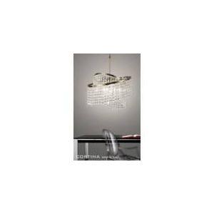 Diyas Suspension Cortina 8 ampoules en laiton et cristal