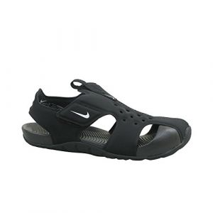 Nike Sunray Protect 2 (PS), Sandales de Sport Garçon, Noir (Black/White 001), 32 EU
