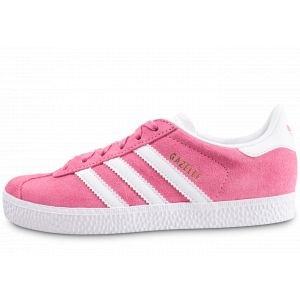 Adidas Gazelle Rose Et Blanche Enfant Tennis Enfant
