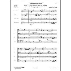 Flex Editions Arcens G. - Quatuor Miniature - No. 1 : Defile De Nains De Jardin - Quatuor De...