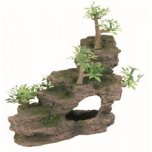 Trixie Rocher escalier avec plante, pour aquarium, 19 cm