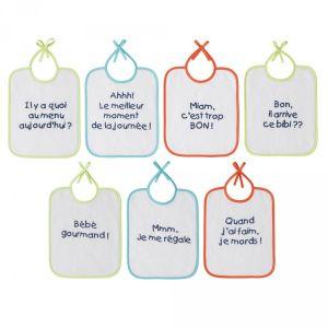 Babycalin 7 bavoirs naissance message