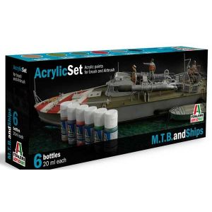 Italeri Peinture pour les bateaux de guerre- Peinture à maquette a